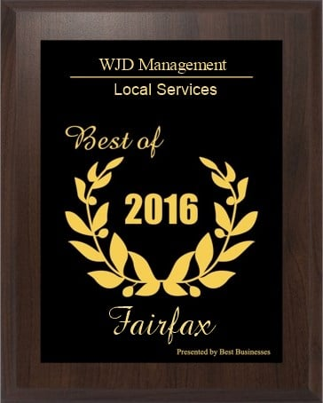 Fairfax 2017 small business excellence award